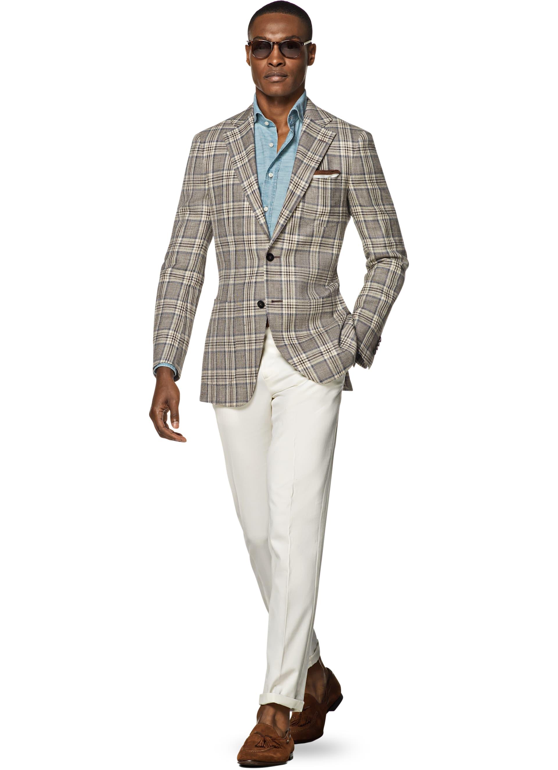 Suit jacket - Hudson Brown Check