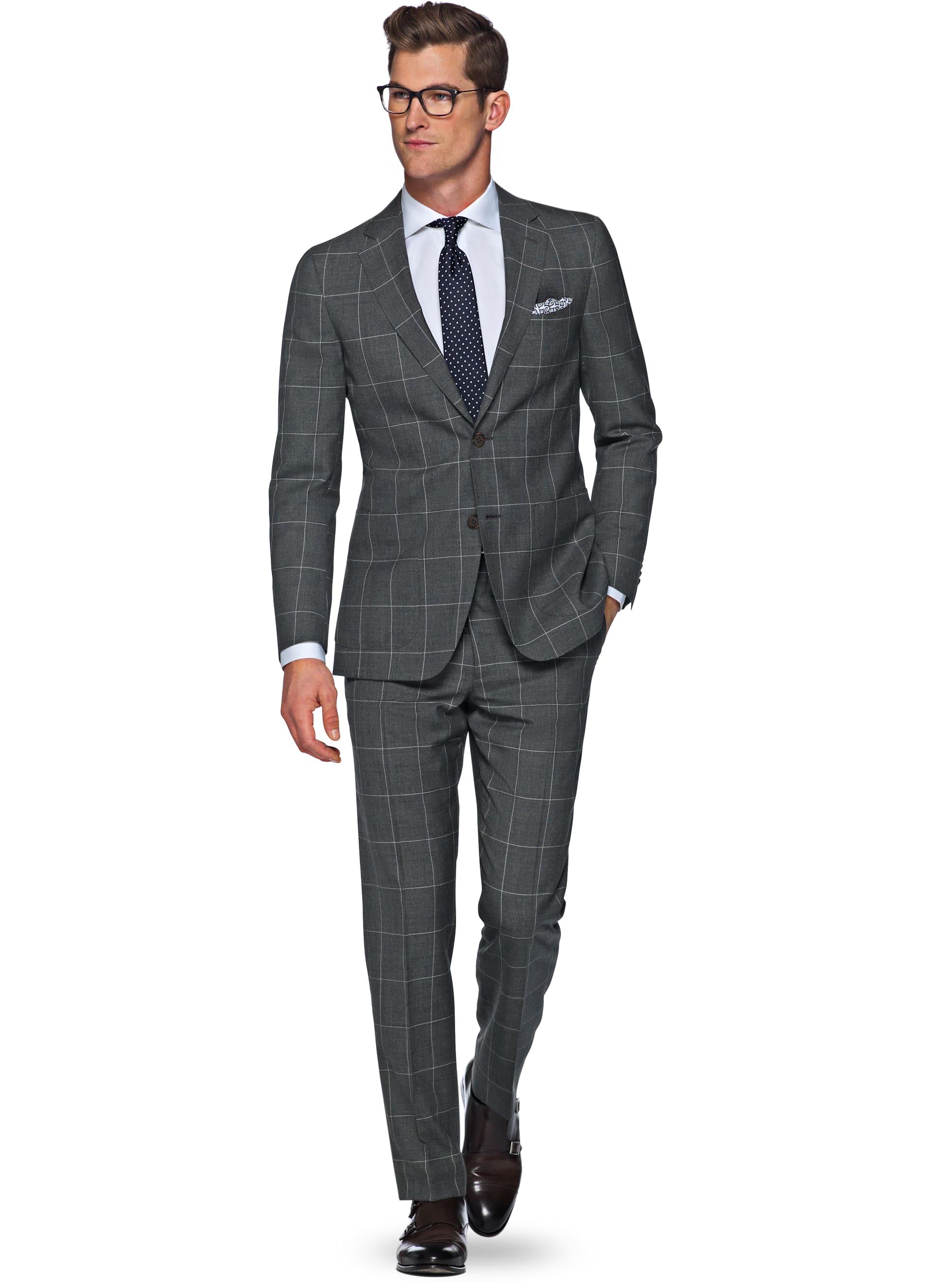 Suit Grey Check Havana P4876 | Suitsupply Online Store