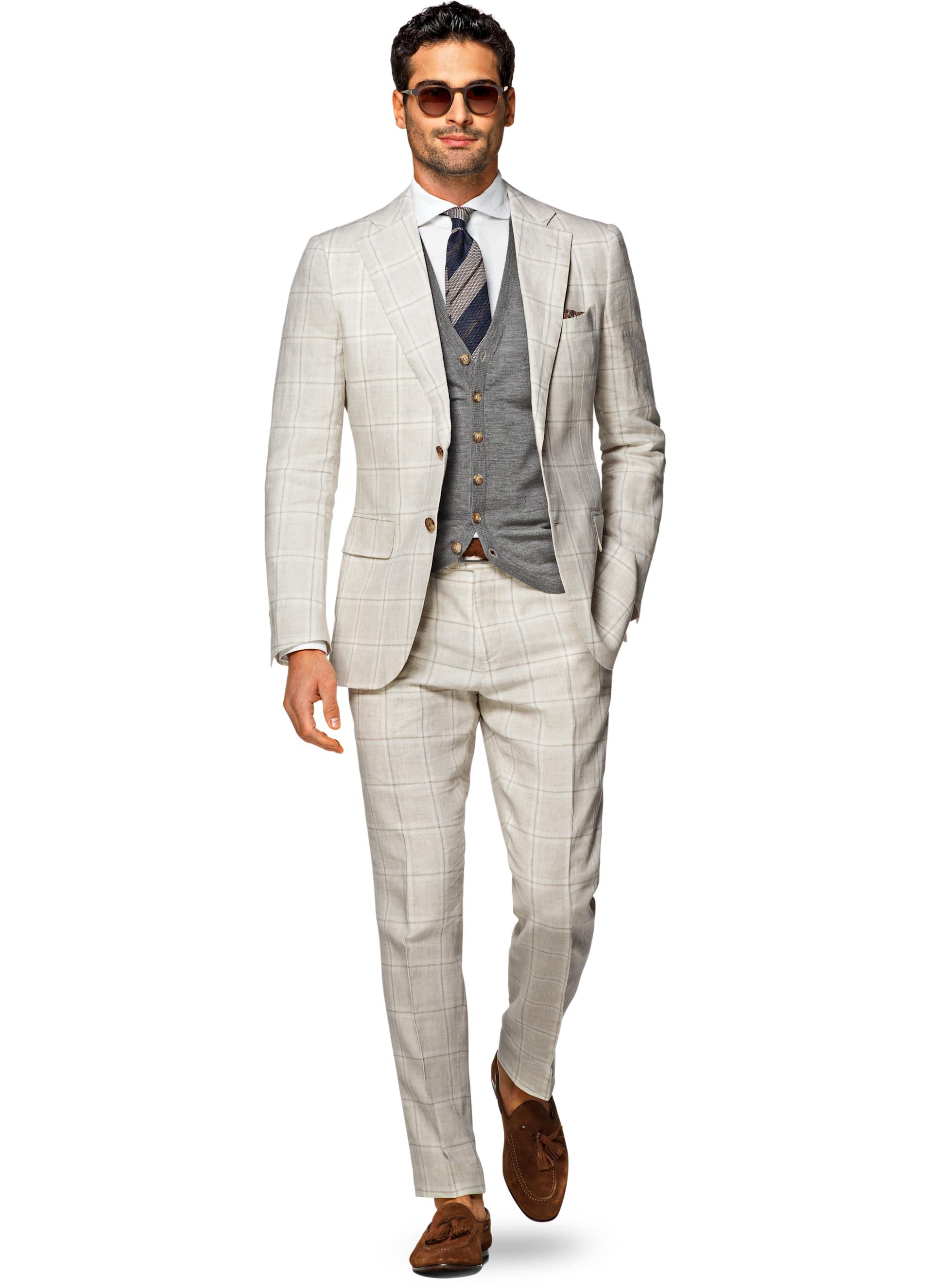 Suit Light Brown Check Lazio P5183i | Suitsupply Online Store
