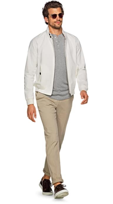 White Harrington Jacket Jort