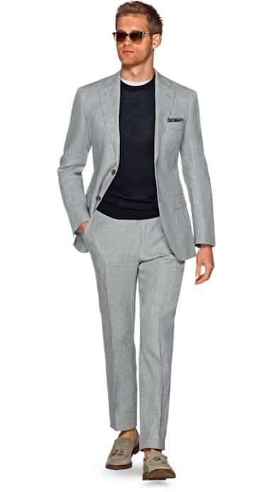 Napoli Grey Faux Uni