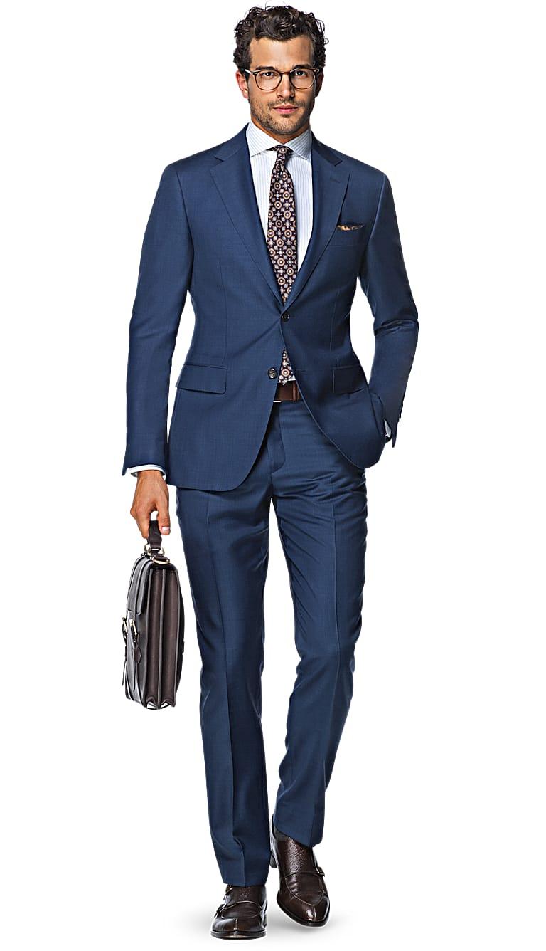 Suit Blue Plain Napoli P4291ni