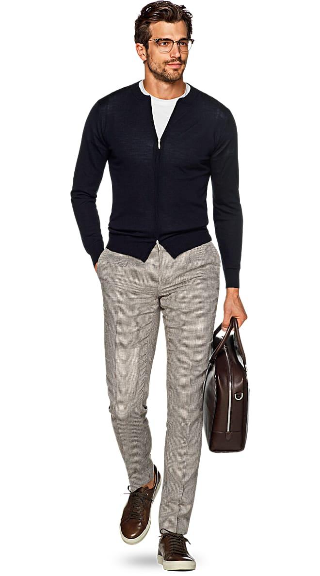 Navy Zip Sweater