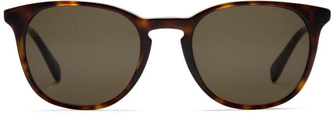 Dark Brown Round Sunglasses