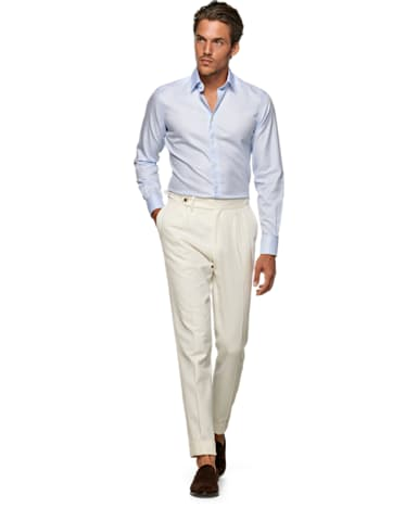 Light Blue Plain Traveller Shirt