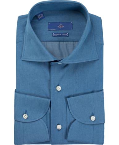 Jort Blue Plain Shirt