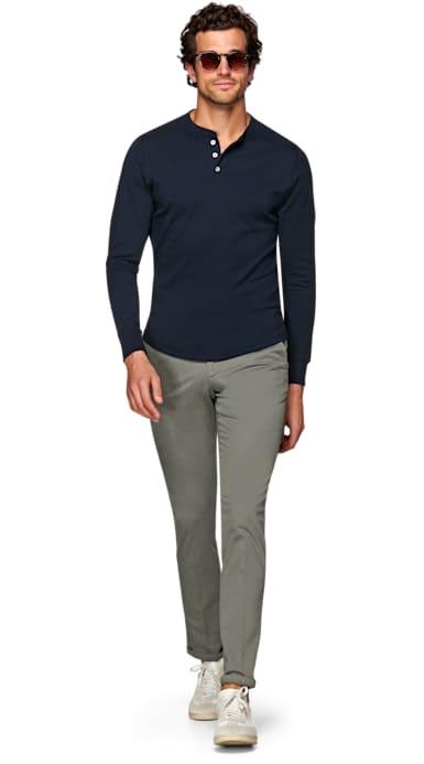Navy Henley T-Shirt