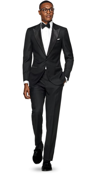 Lazio Black Plain Tuxedo