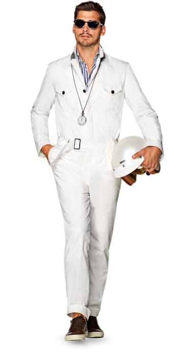 Jort White Plain Boilersuit