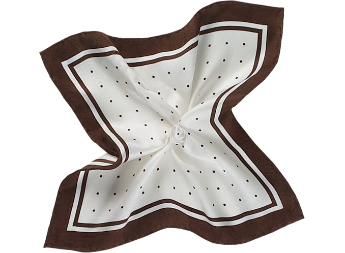 Brown Pocket Square