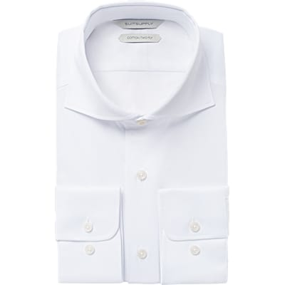 White_Plain_Shirt_Single_Cuff_H5490U