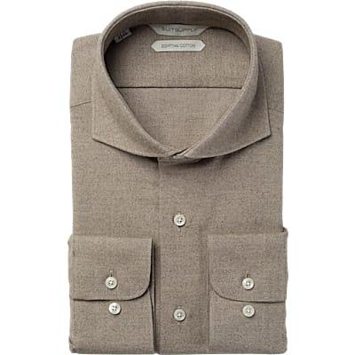 Brown_Plain__Shirt_Single_Cuff_H5627U