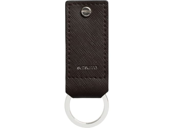 Brown Key Ring and USB Drive