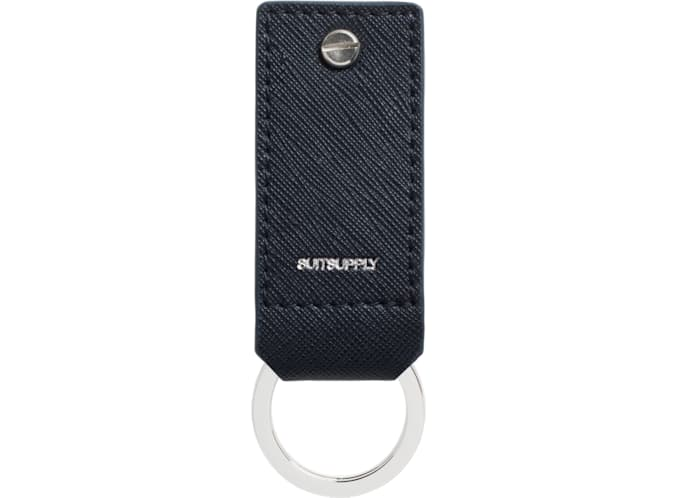 Blue Key Ring and USB Drive